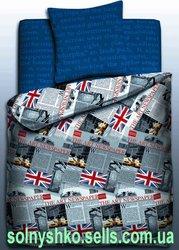 Продаем постельное белье полуторное Britain ТМ Unison Teens