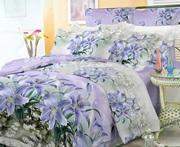 Дешевое постельное белье,  Комплект Лилия (фиолет)