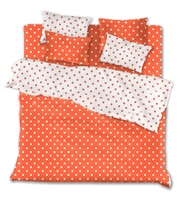 Комплект постельного белья Оранжевые горохи