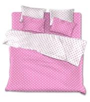 Комплекты постельного белья недорого – Розовые горохи